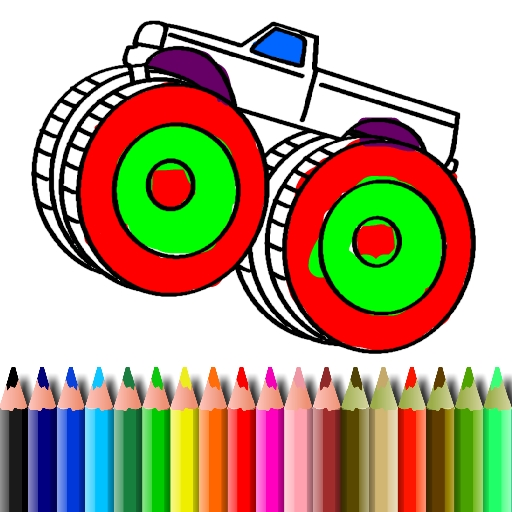 BTS Monster Truck Coloring
